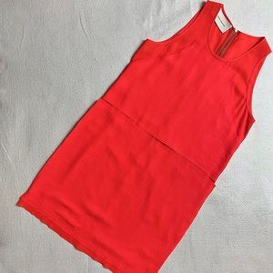 Cedric Charlier red layered shift dress 8-10